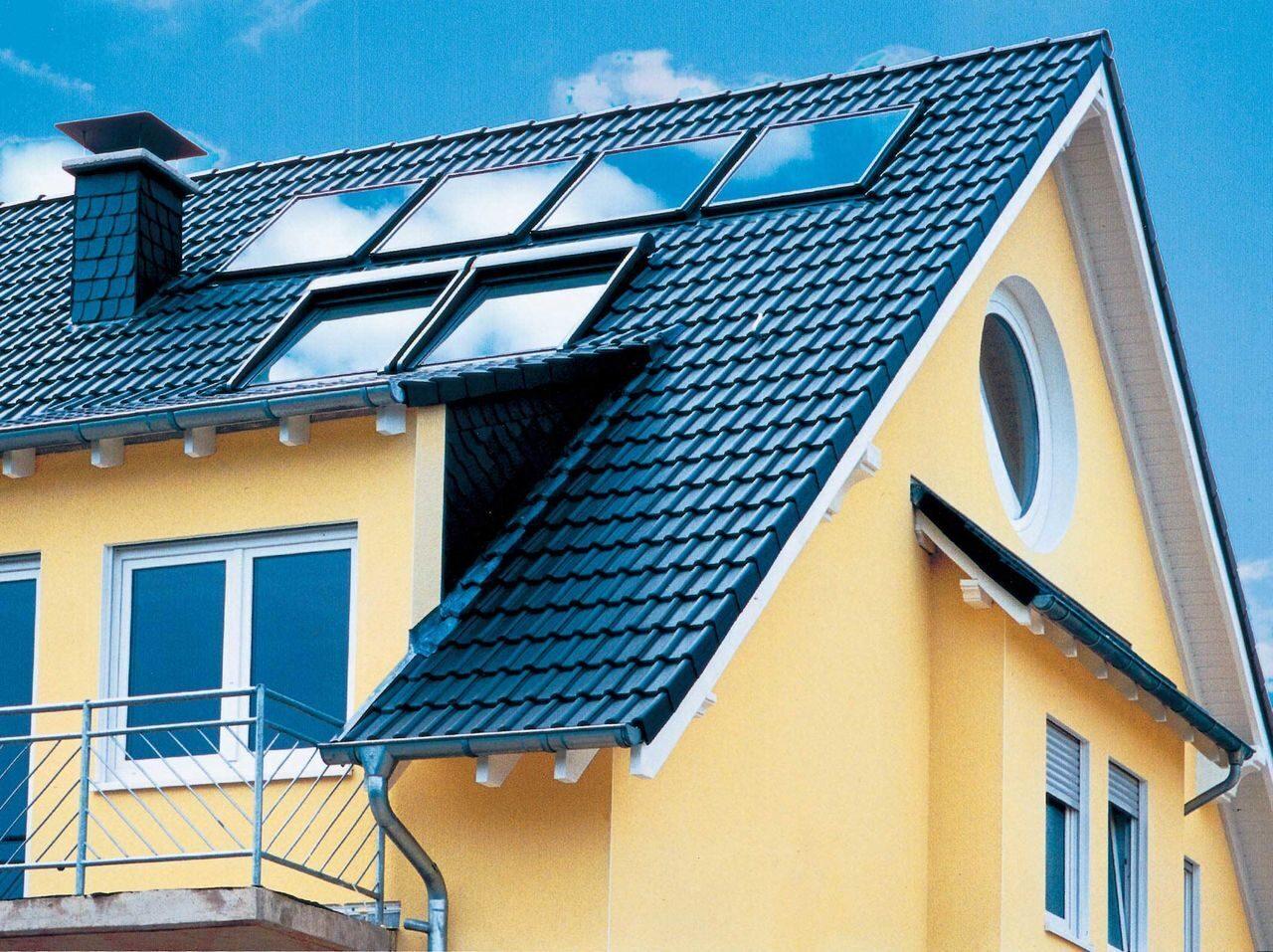 Фото односкатных крыш профнастиль дизайнер
